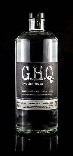 G.H.Q Scottish Vodka, handcrafted premium spirits