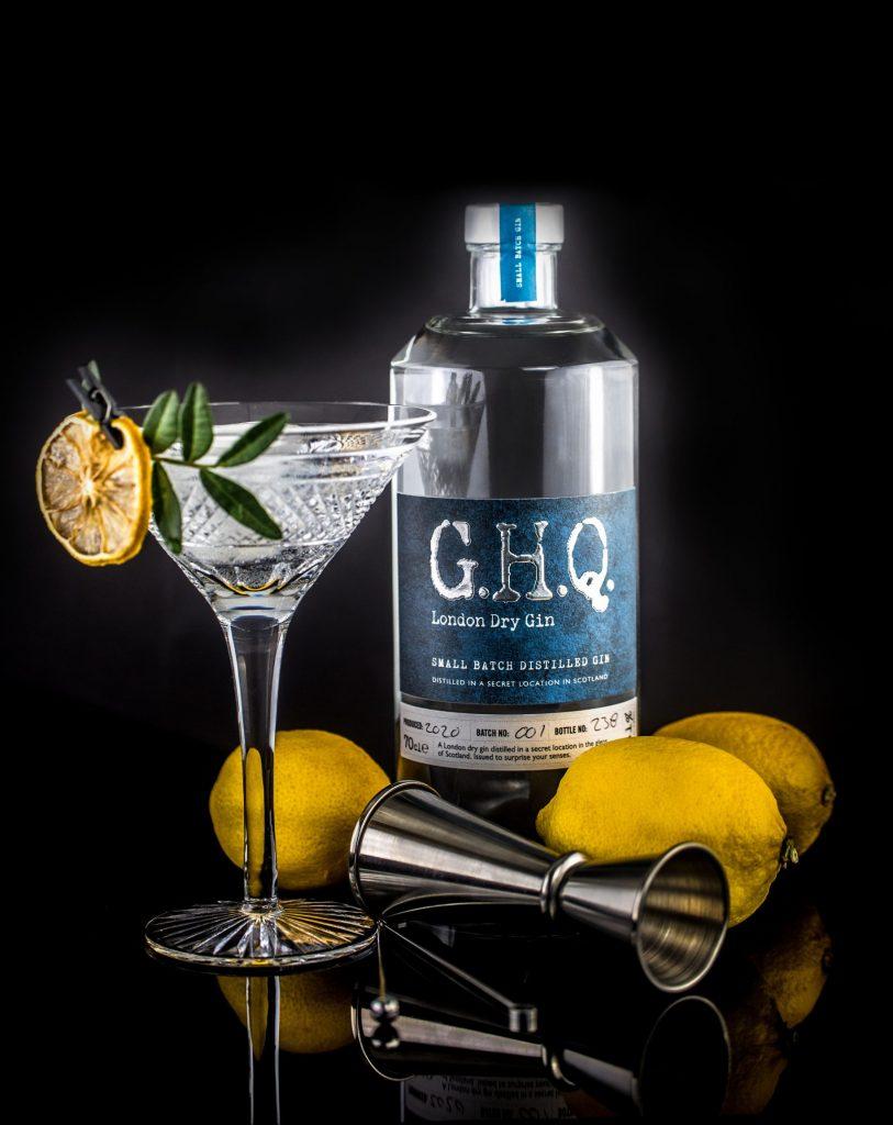 Handcrafted premium London Dry Gin distilled in Scotland by G.H.Q Spirits
